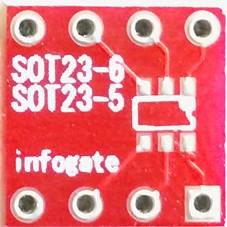Infogate - SOT-23-5/6 ve SOT23-8 - DIP-8 çevirici soket