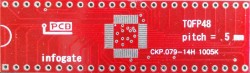 Infogate - TQFP-48 > DIP-48 çevirici soket